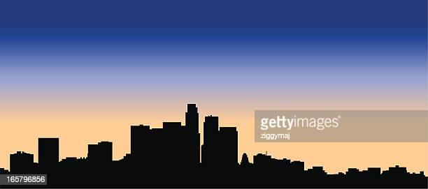 los angeles skyline - hollywood california stock illustrations