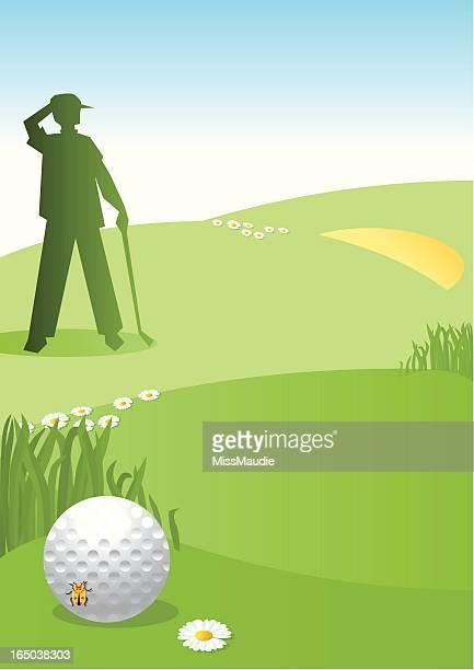 lost golf ball - sand trap stock illustrations, clip art, cartoons, & icons