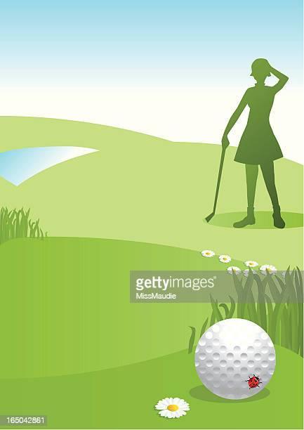 lost ladies golf ball - sand trap stock illustrations, clip art, cartoons, & icons
