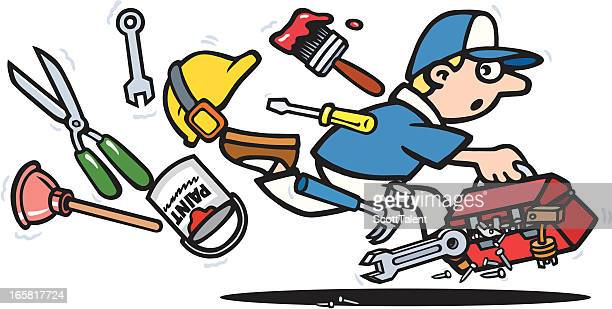 lost tools - hedge trimmer stock illustrations, clip art, cartoons, & icons