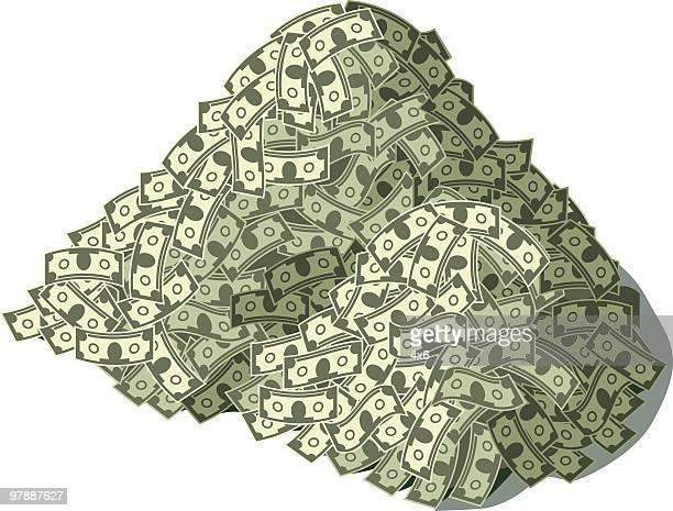 たくさんの現金