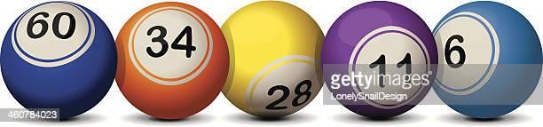 lottery balls - bingo balls stock illustrations