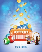 Lottery Jackpot poster.