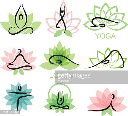 25 Yoga Logos Design Royalty Free Stock Images Vectors Videos Pixervatory Post