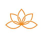 Lotus Artistic Line Symbol Design