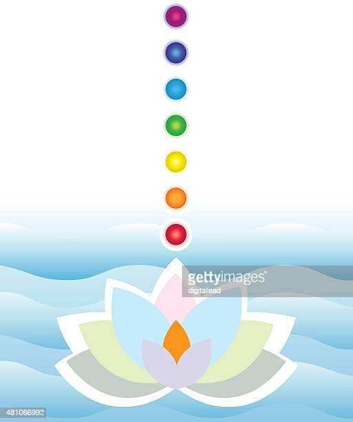 illustrations, cliparts, dessins animés et icônes de lotus flotter sur l'eau - chakra