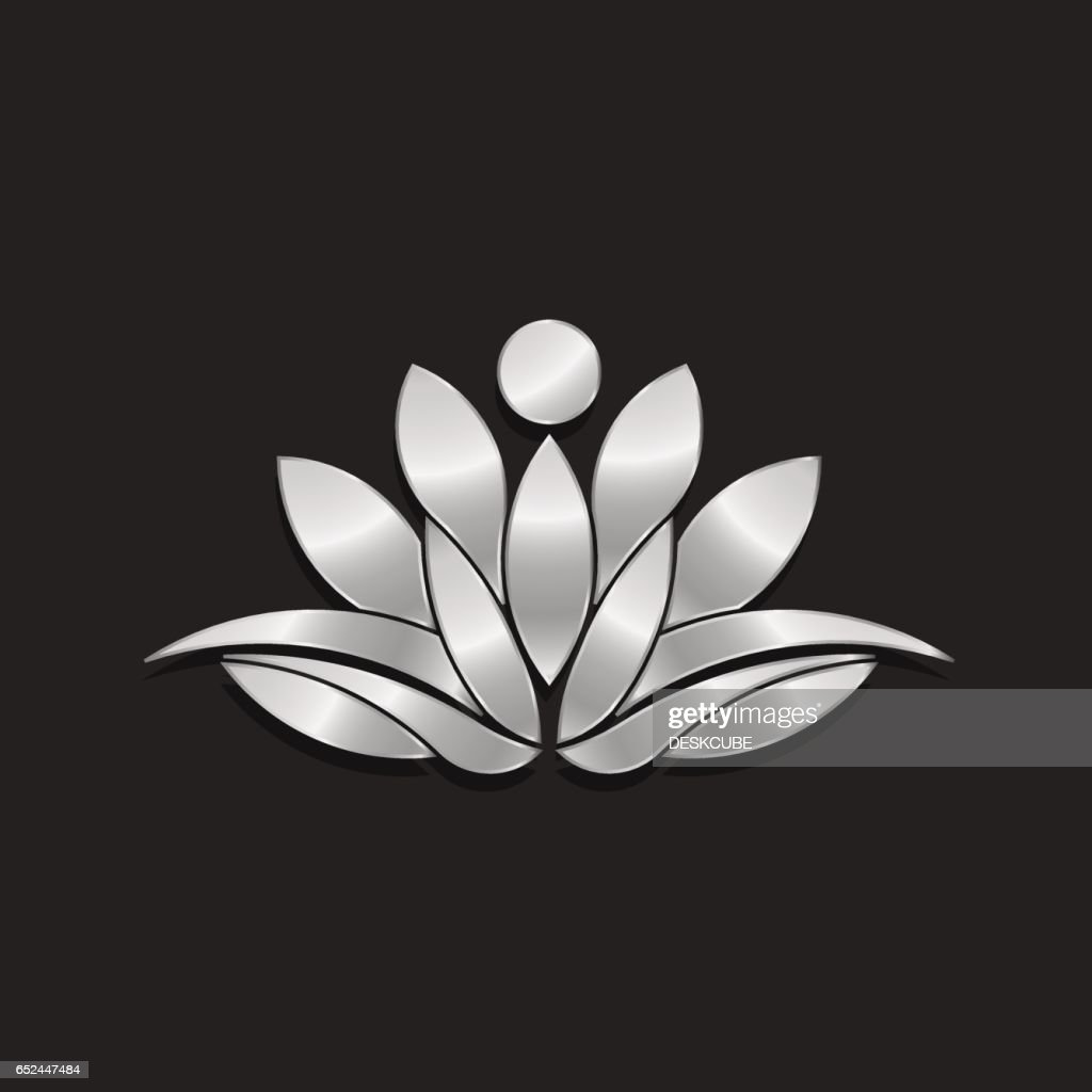 Lotus Flower Copper Style Illustration Vector Art Getty Images