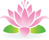 Lotus flower icon vector design