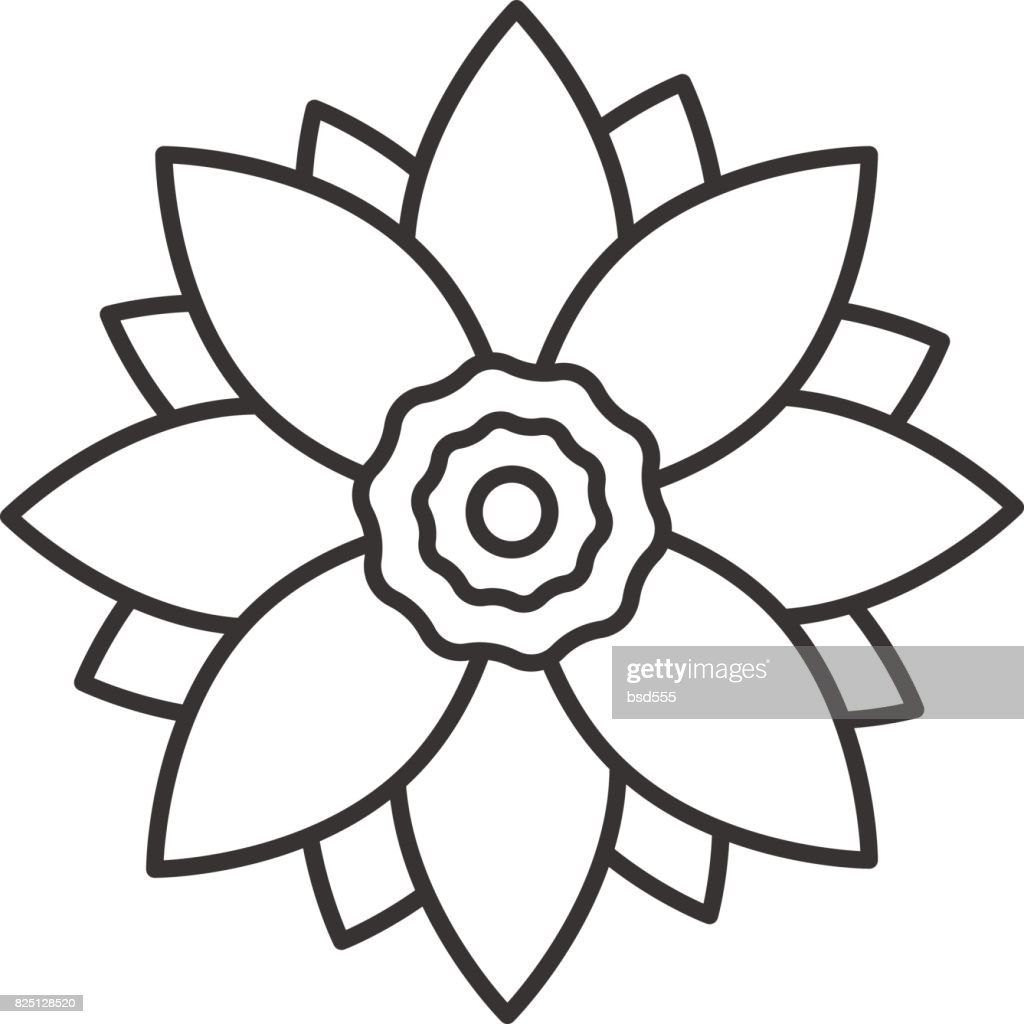 Lotus Flower Icon Vector Art Getty Images