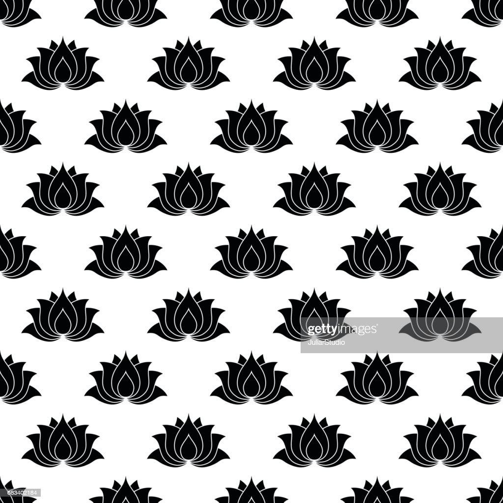 Lotus flower pattern seamless vector art getty images lotus flower pattern seamless vector art izmirmasajfo