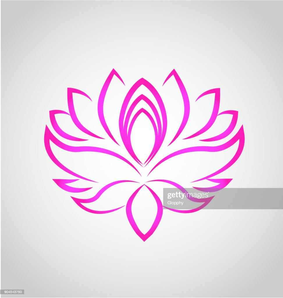 Lotus flower spa massage icon vector vector art getty images lotus flower spa massage icon vector izmirmasajfo