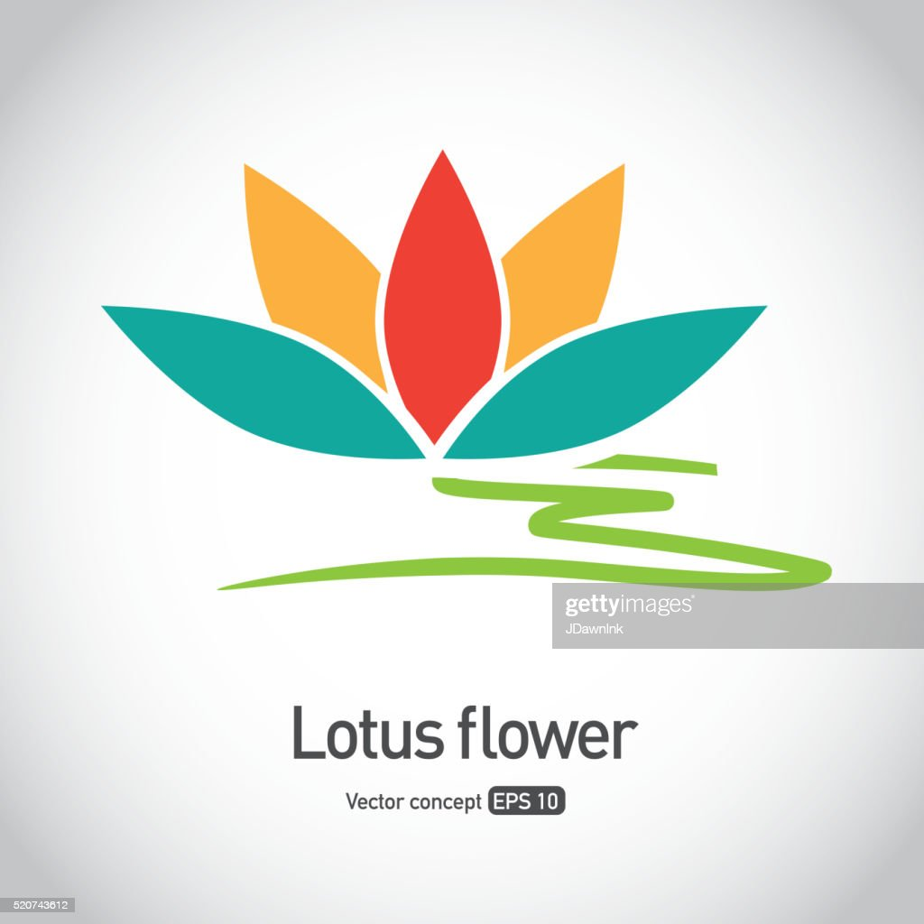 Lotus flower symbol icon concept vector art getty images lotus flower symbol icon concept vector art izmirmasajfo