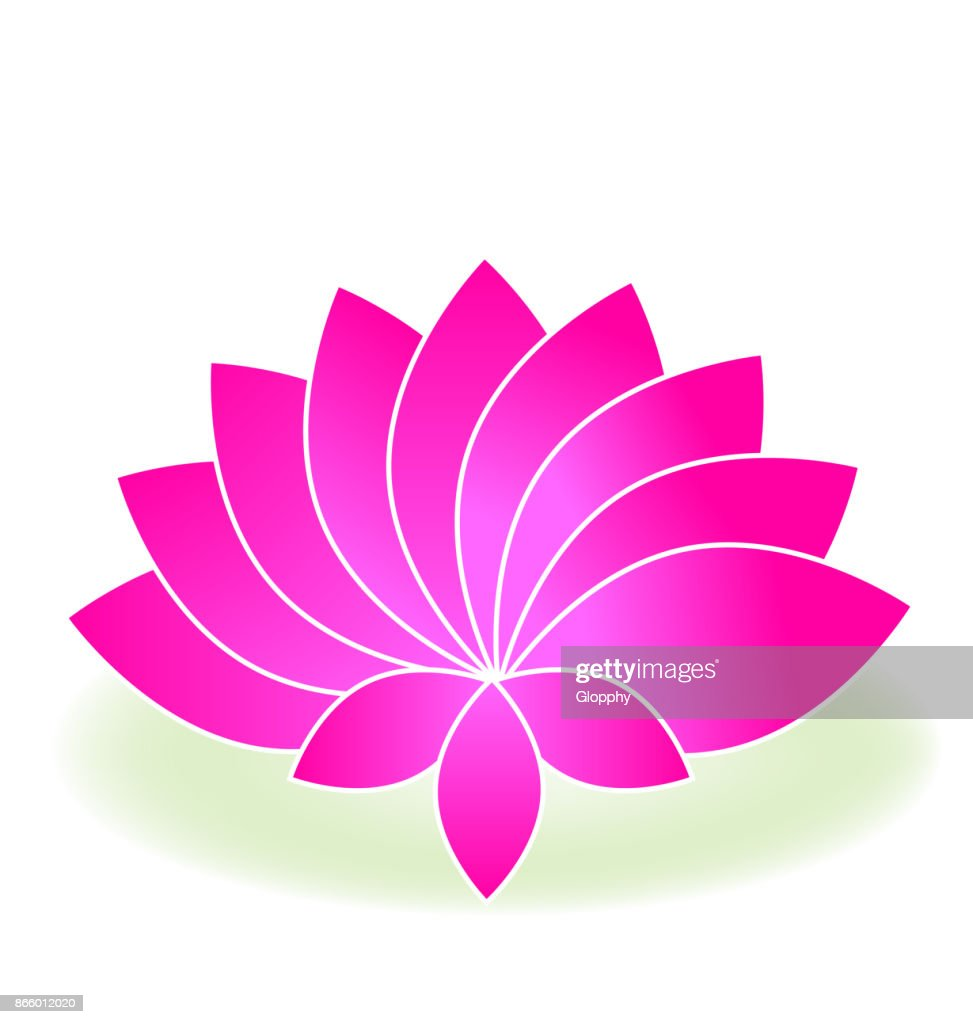 Lotus Pink Flower Yoga Massage Icon Vector Art Getty Images
