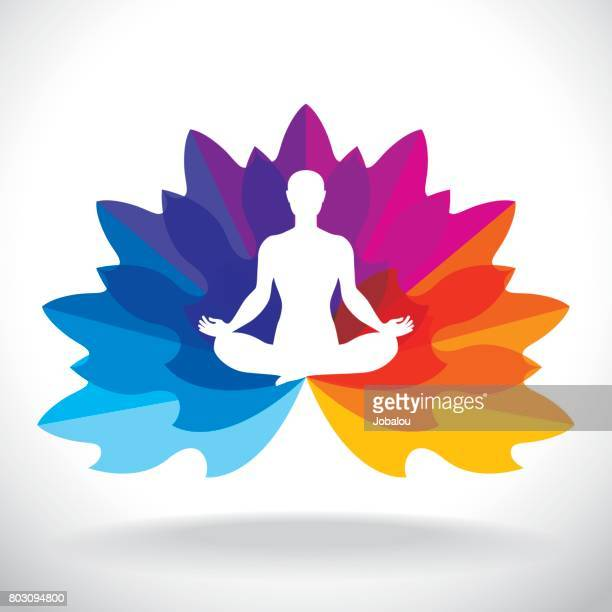 Lotus Pose With Petals