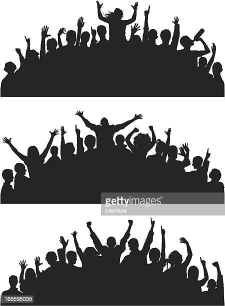 loud curved crowds - fan enthusiast stock illustrations, clip art, cartoons, & icons