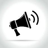 loud speaker on white background