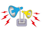 Loudspeaker alarm and siren