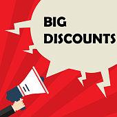 Loudspeaker in hand, big discount