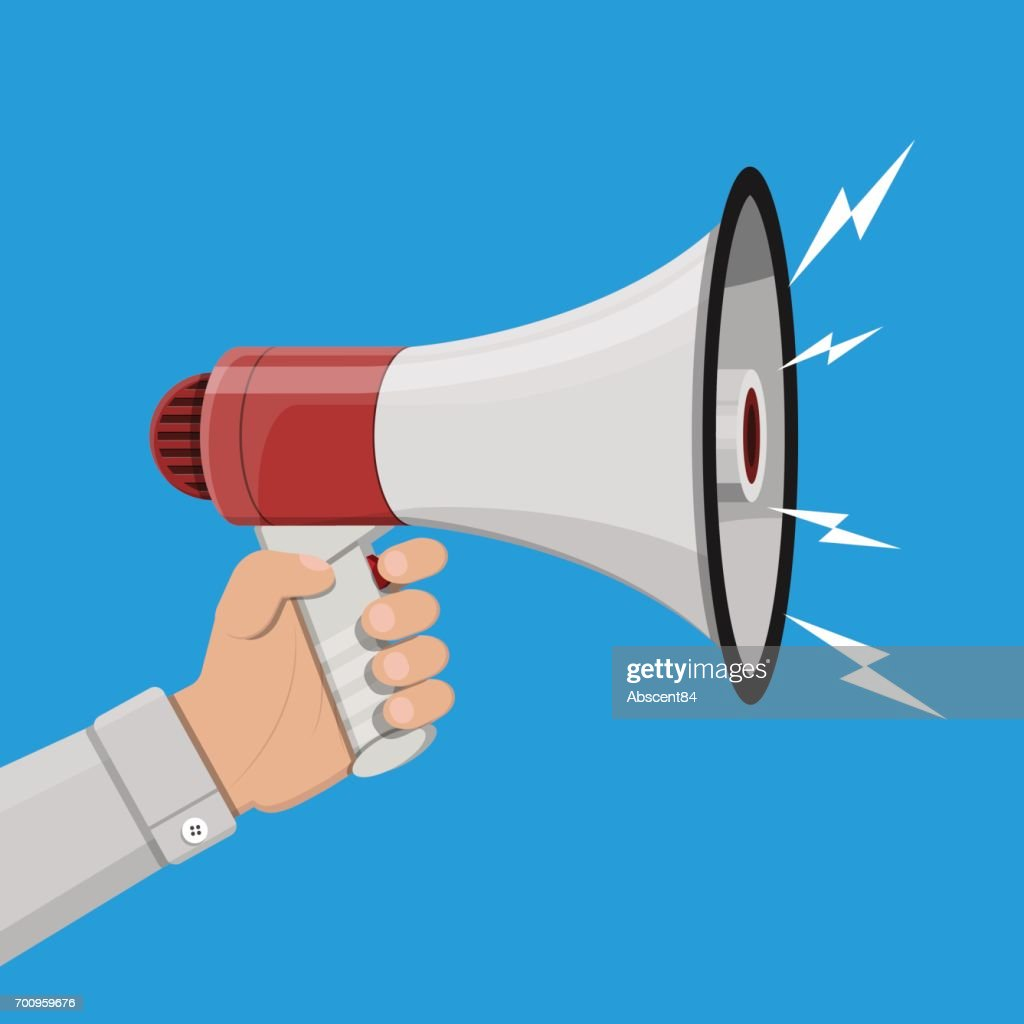 loudspeaker or megaphone announcement element high res vector graphic getty images https www gettyimages com detail illustration loudspeaker or megaphone announcement royalty free illustration 700959676