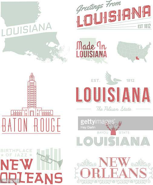 louisana typography - new orleans stock illustrations, clip art, cartoons, & icons