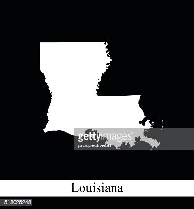 louisiana map outline vector printable in black and white