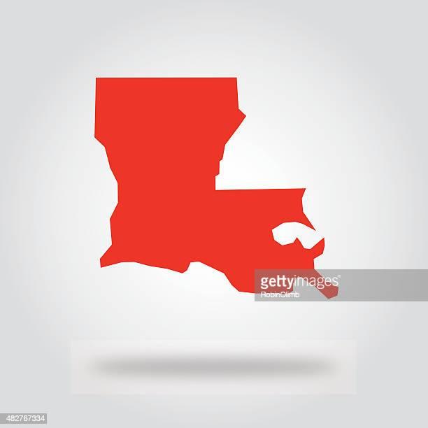 louisiana red state icon - louisiana stock illustrations, clip art, cartoons, & icons