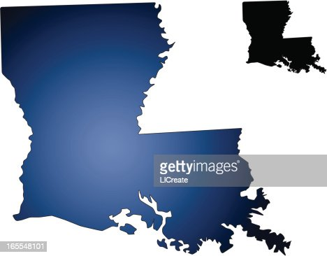 louisiana state map vector art | getty images