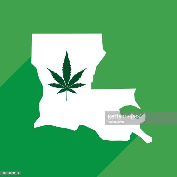 louisiana state marijuana map - louisiana stock illustrations, clip art, cartoons, & icons