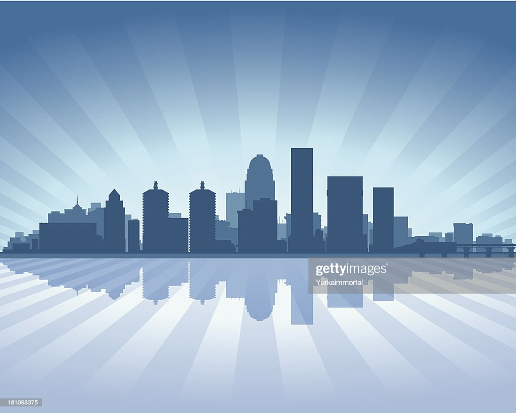 Louisville Blue City skyline silhouette