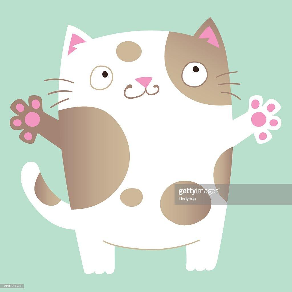 Lovable cartoon cat