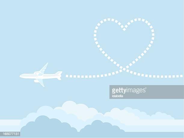 60点の飛行機 雲のイラスト素材クリップアート素材マンガ素材