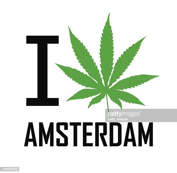i love amsterdam - recreational drug stock illustrations, clip art, cartoons, & icons