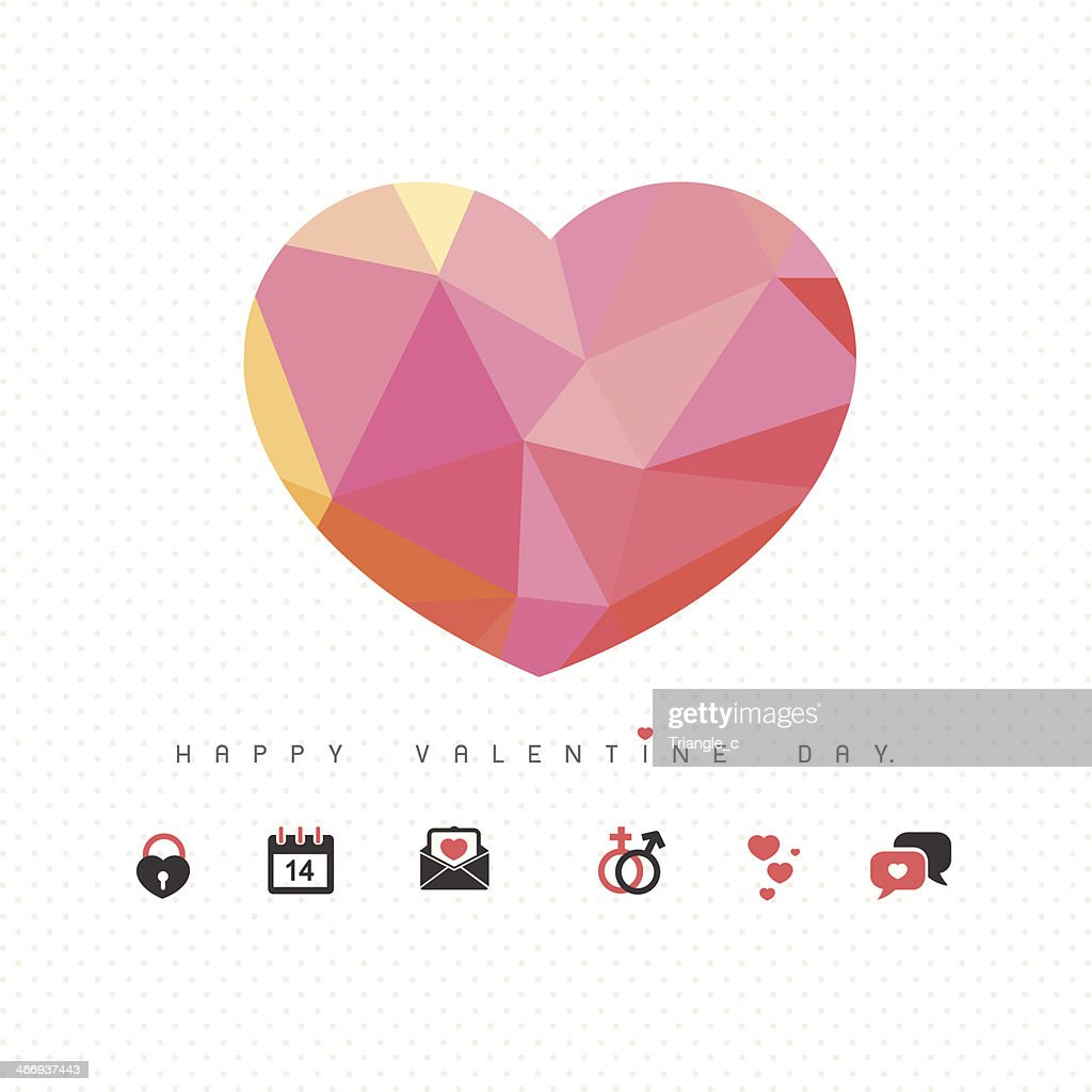 love and heart icon for valentine day