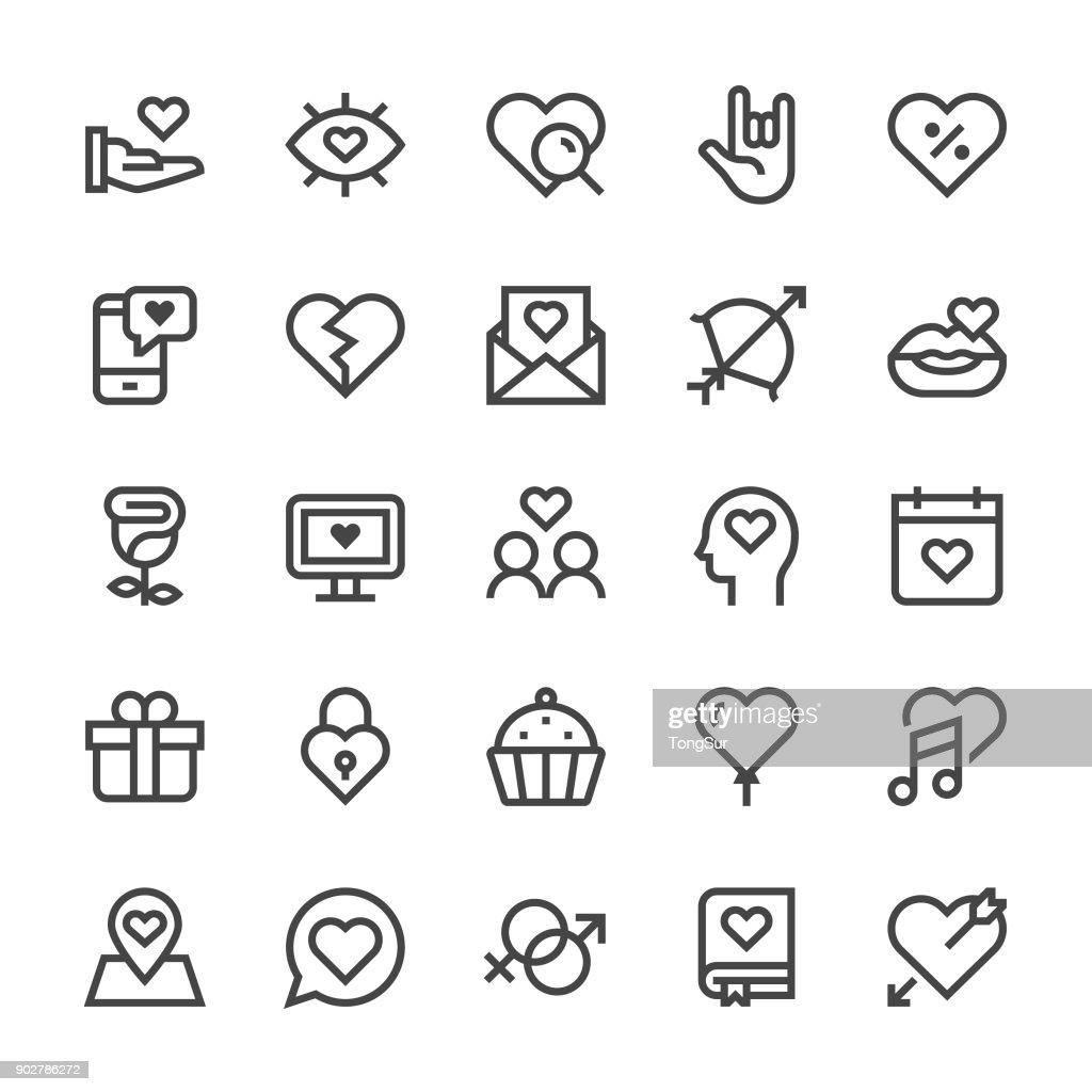 Love and Valentine's day Icons - MediumX Line