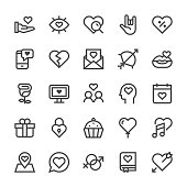 Love and Valentine's day Icons - MediumX Line