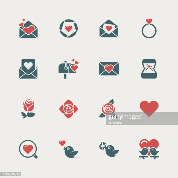 love and valentine's day icons - rosa stock illustrations