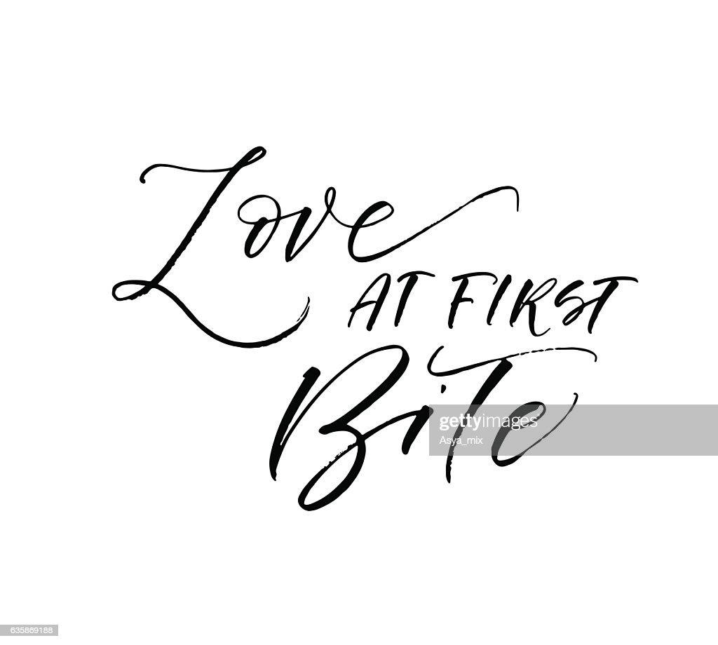 Love at first bite postcard.
