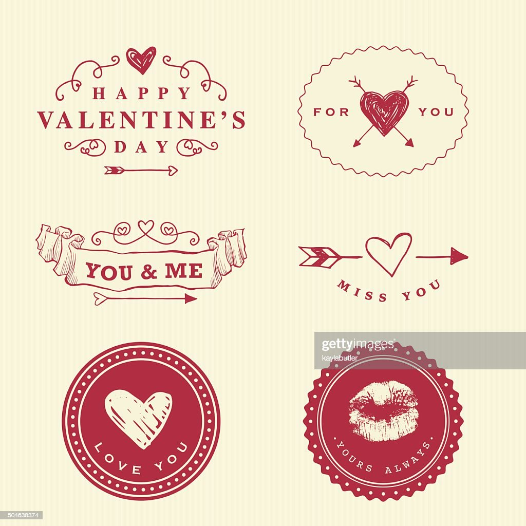 Love Badges and Labels : Vector Art