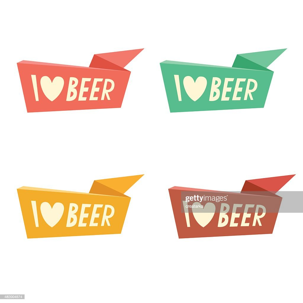 I Love Beer ribbons