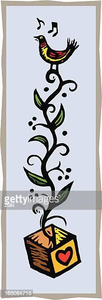 love bird - mockingbird stock illustrations, clip art, cartoons, & icons