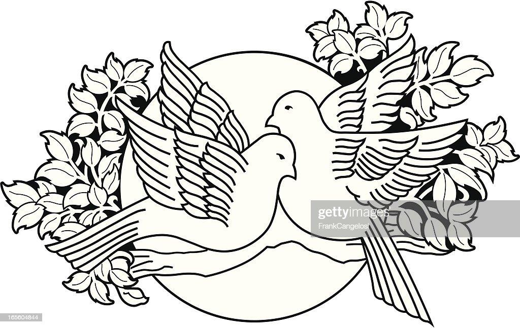 love birds : stock illustration