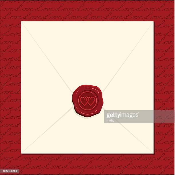 ilustraciones, imágenes clip art, dibujos animados e iconos de stock de tarjeta de amor - carta de amor