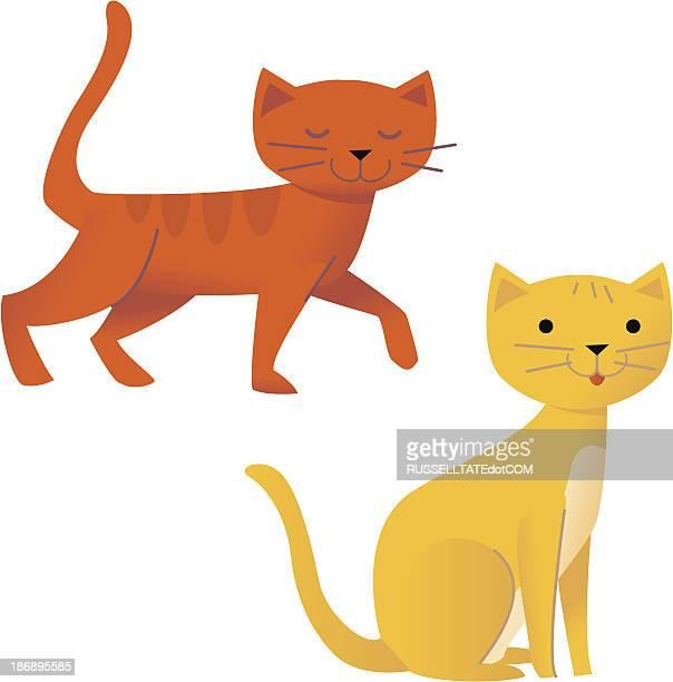 ilustraciones, imágenes clip art, dibujos animados e iconos de stock de amor gatos - inocentada