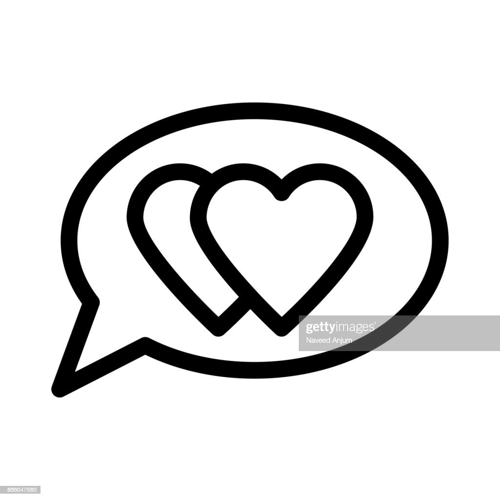 love chat Thin Line Vector Icon