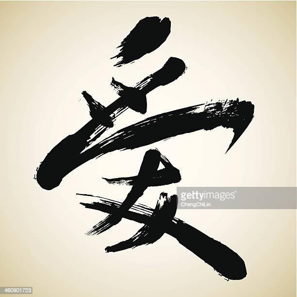 Amour/série de calligraphie chinoise