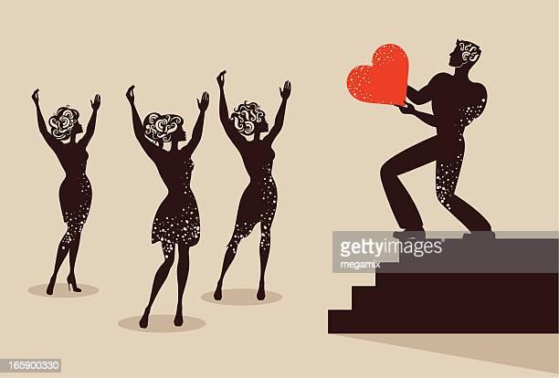 愛を反映しています。 - 複婚点のイラスト素材/クリップアート素材/マンガ素材/アイコン素材