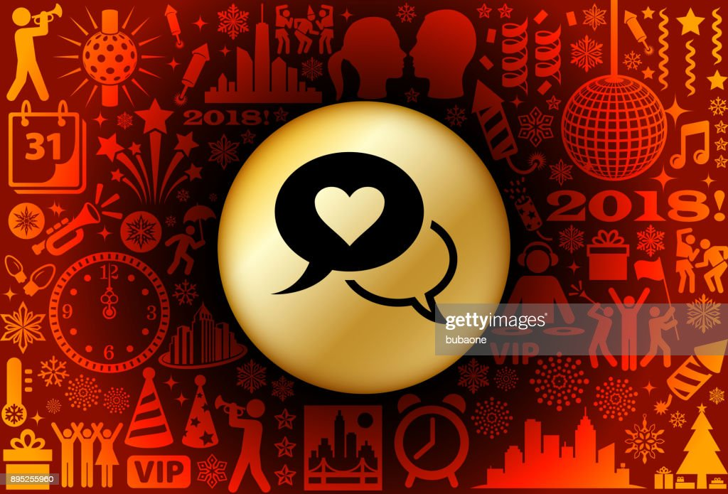 love communication new year holiday background pattern vector art