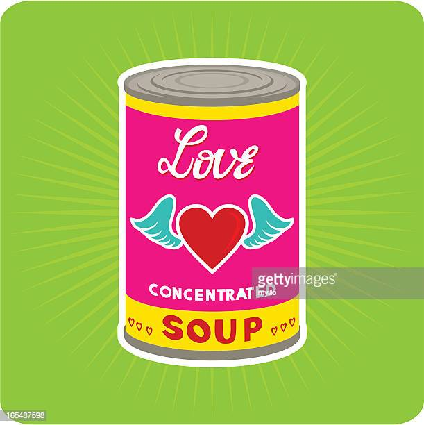 Love Concentrated.pop art. andy warhol. tin can