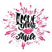 Love concept inspirational hand lettering motivation poster.