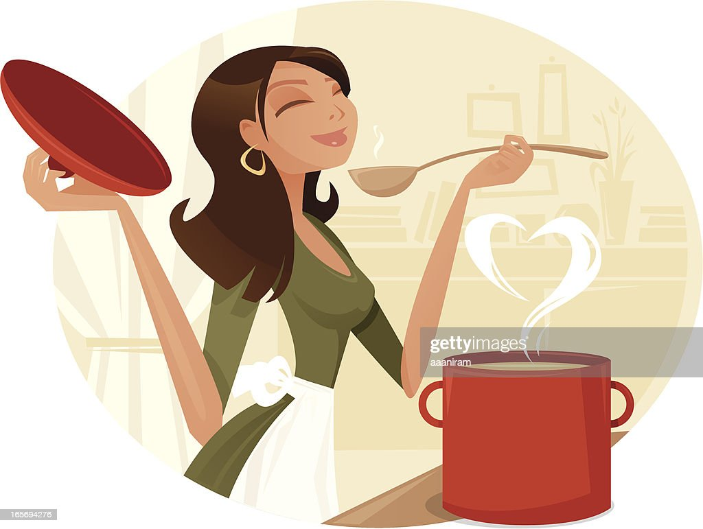 Love Cooking : stock illustration